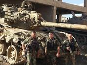 Video chiến sự Syria: Cận cảnh binh sĩ chính phủ tiêu diệt 75 tay súng khủng bố