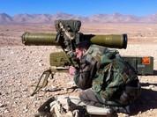 Video chiến sự Syria: Tên lửa chống tăng nướng xe ủi phiến quân