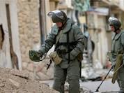 Video chiến sự Aleppo: Công binh Nga rà phá bom mìn tại các quận sạch bóng phiến quân