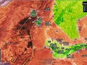 Nghi vấn phiến quân Syria ngoại ô Damascus nộp vũ khí đầu hàng (video)