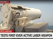 Mỹ thử thành công vũ khí laser trên chiến hạm (video)