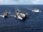 Tàu tình báo Nga, Trung bám theo tàu Mỹ ở vùng biển Triều Tiên làm gì?