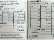 Ngã ngửa vì hoá đơn tiền điện tăng gấp... 8 lần