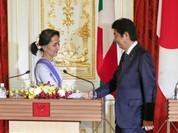 Nhật Bản chi viện quy mô lớn cho Myanmar, bà Aung San Suu Kyi thu hoạch lớn