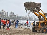 """Chiến dịch dọn rác bãi biển lớn nhất thế giới """"quét"""" hơn 5.000 tấn rác"""
