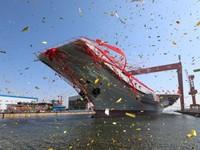Trung Quốc chính thức hạ thủy tàu sân bay tự chế đầu tiên
