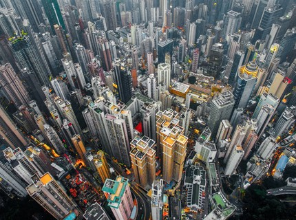 Hong Kong chật kít nhà cao tầng qua góc nhìn Flycam