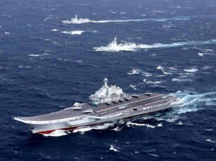 """Trung Quốc đưa J-20 theo tàu sân bay Liêu Ninh """"khoe cơ bắp"""""""