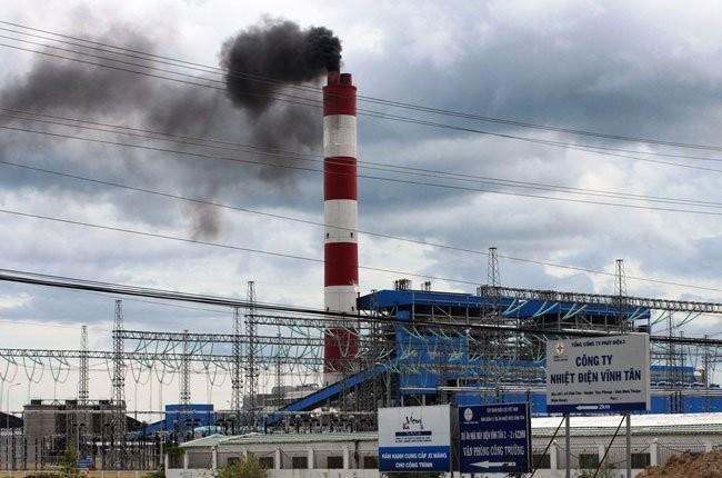 Nhà máy nhiệt điện Vĩnh Tân 2 tại huyện Tuy Phong, tỉnh Bình Thuận