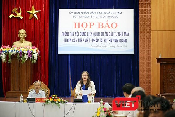 Chiều 13/10, Sở TNMT tỉnh Quảng Nam tổ chức Họp báo thông tin liên quan đến dự án đầu tư xây dựng Nhà máy cán thép Việt Pháp tại huyện Nam Giang gây xôn xao dư luận.