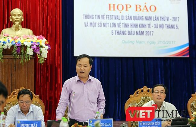 Ông Nguyễn Hồng Quang, Chánh Văn phòng UBND tỉnh Quảng Nam.