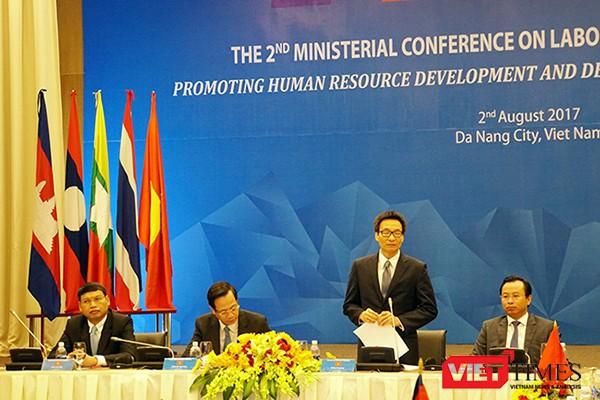 Phó Thủ tướng Vũ Đức Đam phát biểu khai mạc Hội nghị Bộ trưởng về Hợp tác lao động 5 nước Tiểu vùng sông Mê Kông lần 2