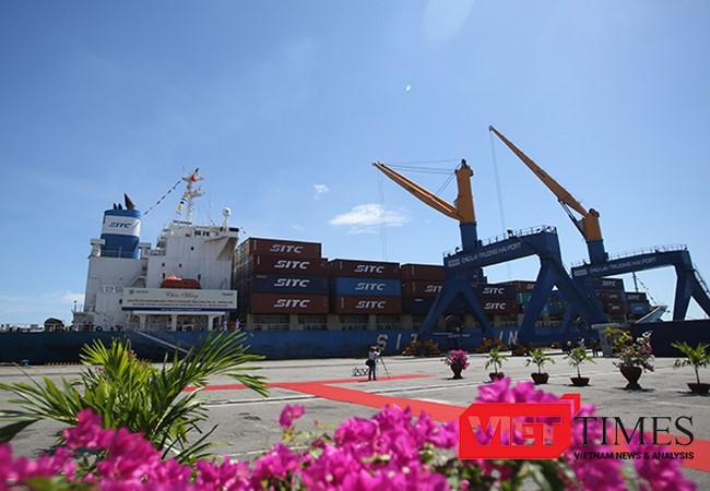 Sau gần 1 năm thi công, dự án mở rộng Cảng Chu Lai-Khu kinh tế mở Chu Lai (Quảng Nam) đã hoàn thành