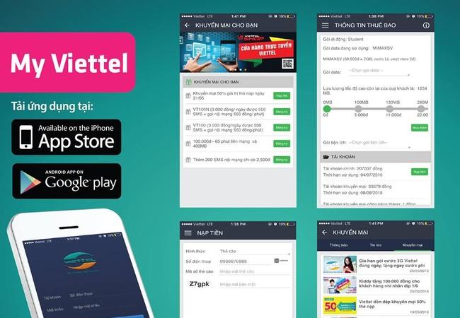 Ứng dụng chăm sóc khách hàng của Viettel tính đến nay đã có 500.000 lượt tải, hơn 5 trệu tương tác