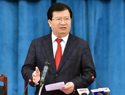 Phó Thủ tướng Trịnh Đình Dũng phát biểu tại Hội nghị tổng kết năm 2016, triển khai kế hoạch 2017 của Bộ Xây dựng.
