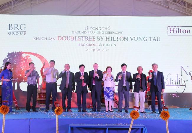 Lễ động thổ Dự án Khách sạn DoubleTree by Hilton Vũng Tàu - Ảnh: BRG