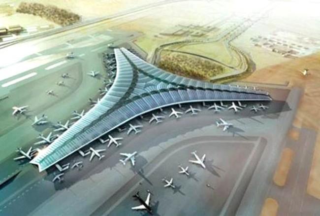 Một mô hình của Dự án Cảng hàng không Quốc tế Long Thành
