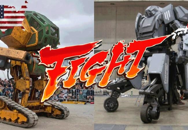 Cuộc quyết chiến giữa robot Mỹ (trái) và Nhật sẽ diễn ra vào tháng 8-2017 - Ảnh: Youtube