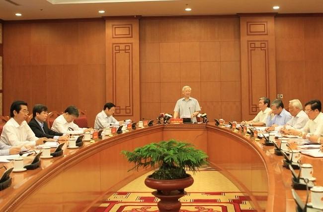 Tổng bí thư Nguyễn Phú Trọng chủ trì cuộc họp Thường trực Ban chỉ đạo TƯ về phòng, chống tham nhũng