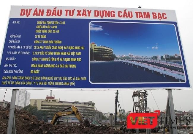 Dự án cầu Tam Bạc với bê tông vĩnh viễn chỉ xây dựng trong thời gian kỷ lục 47 ngày.