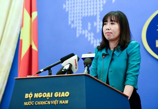 Bà Lê Thu Hằng - Phát ngôn viên của Bộ Ngoại giao Việt Nam
