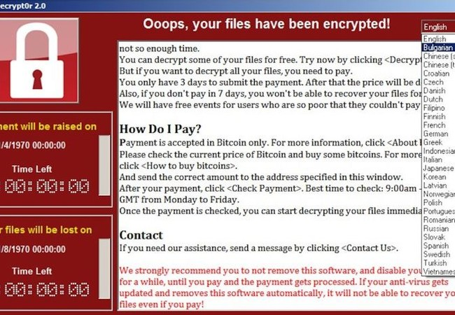 Vụ tấn công bằng phần mềm mã độc WannaCry được coi là lớn nhất từ trước đến nay