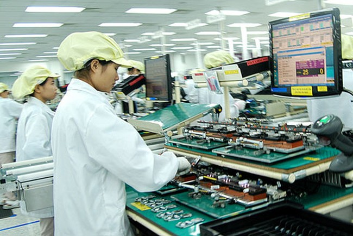 Hoạt động sản xuất trong nhà máy Samsung tại Bắc Ninh. Ảnh: Internet