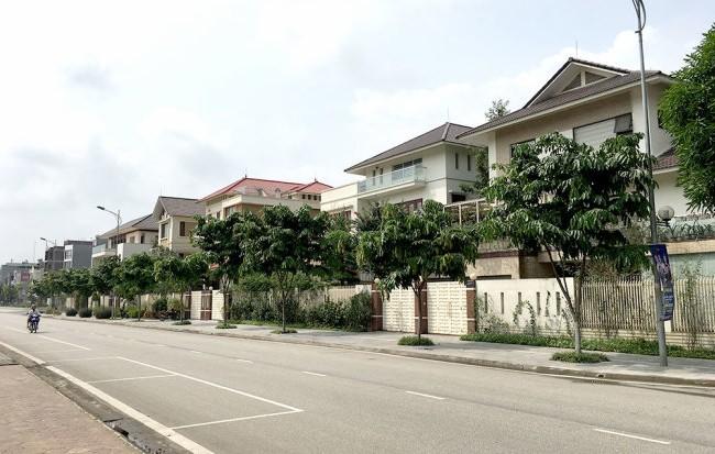 6 lô biệt thự ở vị trí đắc địa tại TP Lào Cai hiện là nơi ở của gia đình bí thư Tỉnh ủy Lào Cai và nhiều lãnh đạo ban ngành của tỉnh. Ảnh Tuổi trẻ