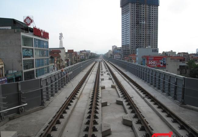 Hệ thống đường sắt của dự án đường sắt cao tốc Cát Linh - Hà Đông.