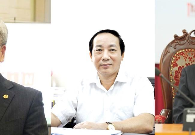 Từ trái qua phải: ông Trần Việt Thanh, ông Nguyễn Hồng Trường, ông Nguyễn Đức Hạnh.