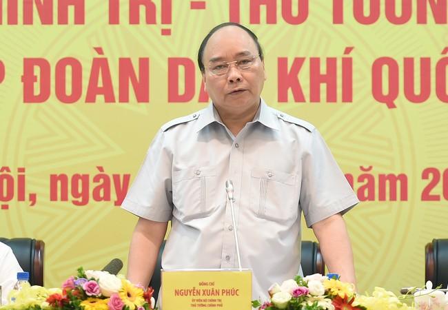 Thủ tướng Nguyễn Xuân Phúc làm việc với Tập đoàn Dầu khí Việt Nam.