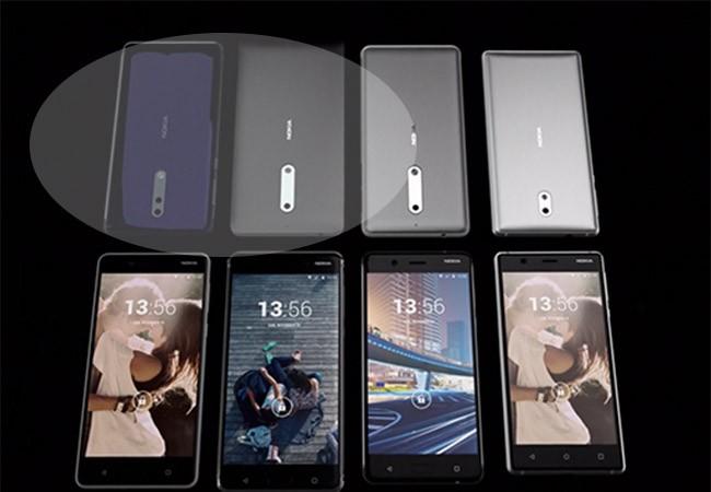 Nokia 8 và Nokia 9 nằm ở góc trên bên trái