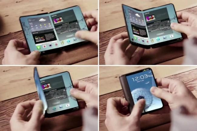 Điện thoại màn hình uốn gập sẽ xuất hiện vào năm 2019