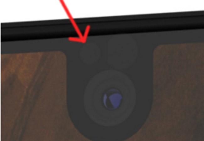 Đèn LED thông báo nằm phía bên trái camera trước