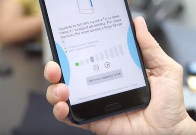 Bóp cạnh là tính năng đặc trưng của smarphone HTC U11