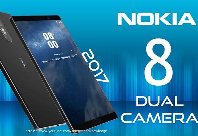 ảnh dựng Nokia 8 (nguồn YouTube)
