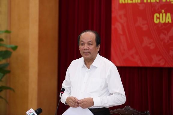 Bộ trưởng - Chủ nhiệm Văn phòng Chính phủ Mai Tiến Dũng - Tổ trưởng tổ công tác của Thủ tướng phát biểu chỉ đạo tại cuộc họp với UBND TP HCM