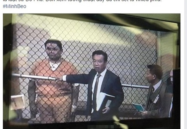 Minh Béo lần đầu xuất hiện sau 3 tuần bị giam giữ - Ảnh chụp màn hình trang Facebook của Phobolsatv