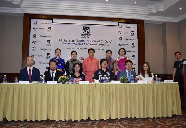 """Lễ phát động  """"Cuộc thi Họa sỹ truyện tranh Châu Á - Illustrator Contest Asia Championship"""". (Ảnh: Momo)"""