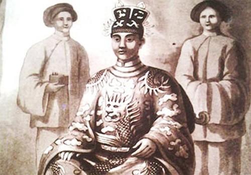 Tranh vẽ vua Minh Mạng. Ảnh minh họa.