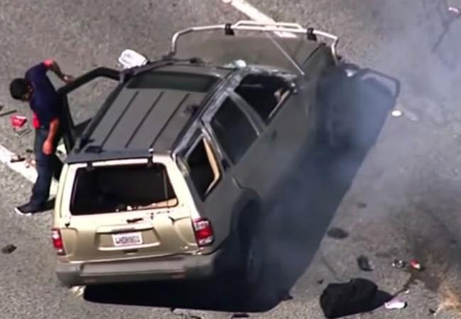 Video: Cuộc trốn chạy kịch tích như phim hành động của nghi phạm Mỹ