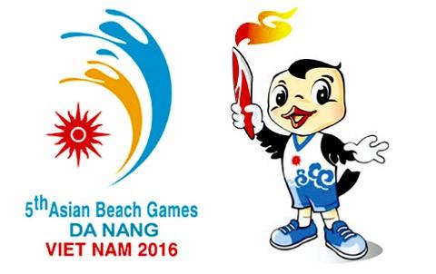 Hình tượng chim yến, một loài chim đặc trưng của vùng biển miền Trung Việt Nam, trở thành biểu tượng Đại hội thể thao Bãi Biển Châu Á 2016.