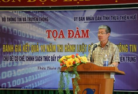 Thứ trưởng Nguyễn Thành Hưng phát biểu tại buổi tọa đàm