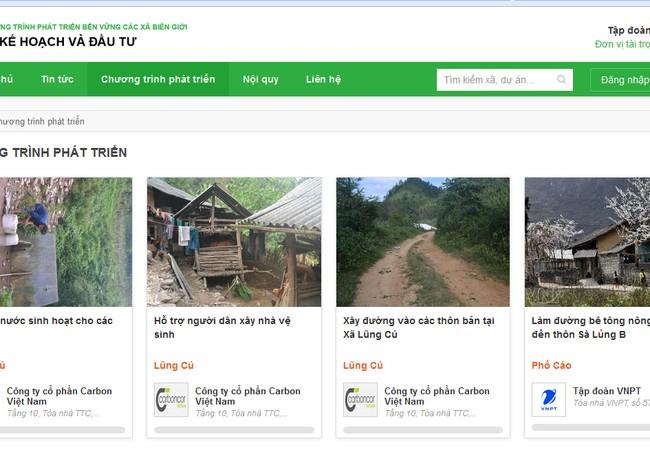 VNPT đã xây dựng một cổng thông tin chính thức có địa chỉ www.donor.vn để thu hút hoạt động thiện nguyện của cộng đồng cho các xã biên giới.