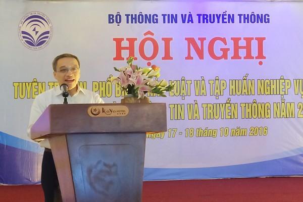 Thứ trưởng Phan Tâm phát biểu tại hội nghị