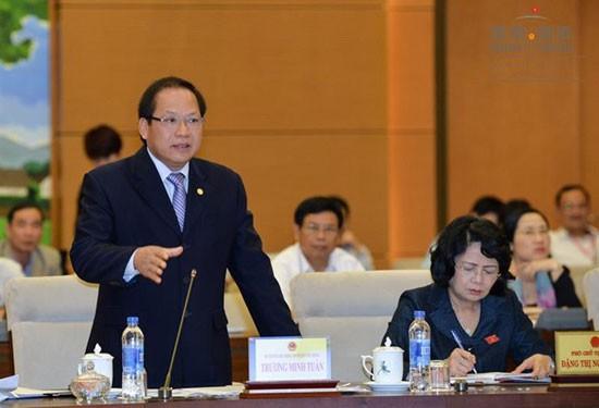 Nhiều đại biểu đánh giá Bộ trưởng Trương Minh Tuấn đã trả lời thẳng vấn đề các đại biểu quan tâm, đồng thời đưa ra những giải pháp và lộ trình cụ thể để khắc phục các tồn tại trong thời gian tới. (Nguồn ảnh: Quochoi.vn)