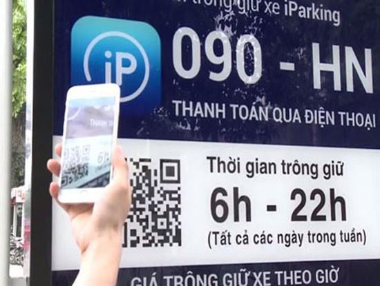 Ứng dụng iParking được Hà Nội triển khai thí điểm từ ngày 1/5/2017 đến 1/8/2017.