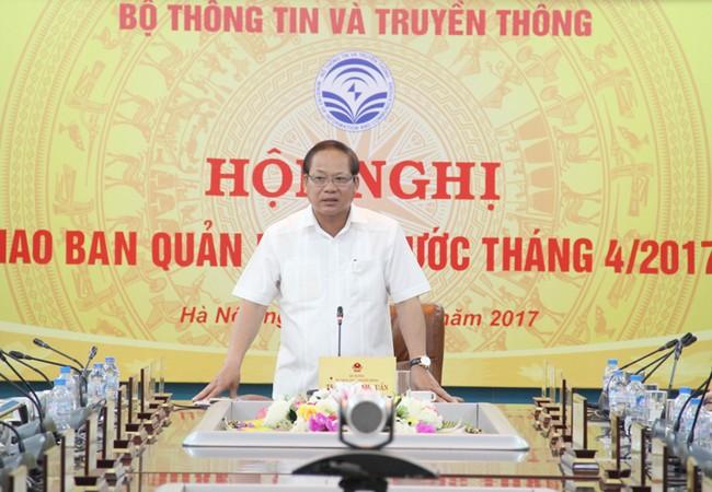 """Bộ trưởng Trương Minh Tuấn: """"Chúng ta không cấm phát biểu chính kiến trên Facebook, mà đấu tranh để gỡ bỏ các nội dung xuyên tạc, xúc phạm danh dự, nhân phẩm của các tổ chức, cá nhân"""""""