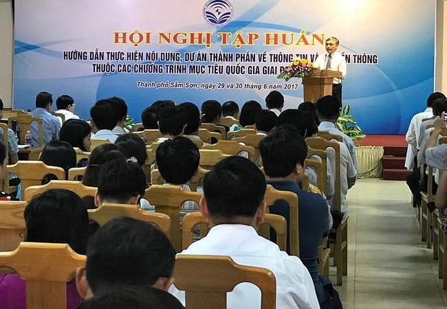 Thứ trưởng Bộ TT&TT Nguyễn Minh Hồng phát biểu khai mạc Hội nghị.