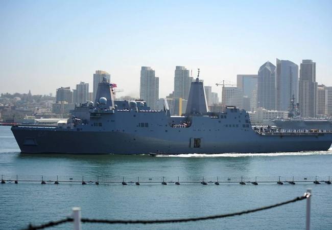 Tàu Hải quân Hoa Kỳ USS San Diego (LPD 22). Ảnh: Đại sứ quán Mỹ tại Việt Nam.